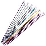 Valar Dohaeris Crochet Hooks 11 Pack Diverse Size Assorted Color Tunisian Afghan AluminumKnitting Needles Set (2mm to 8mm)