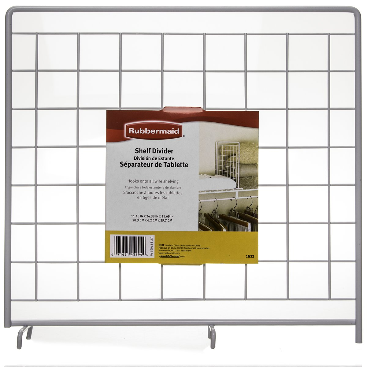 6 Pack Rubbermaid White Grid Wire Shelf Dividers For Closets Storage ...
