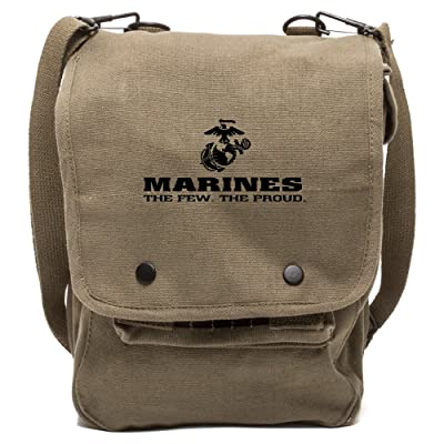 Marines The Few and The Proud Canvas Crossbody Travel Map Bag Case good