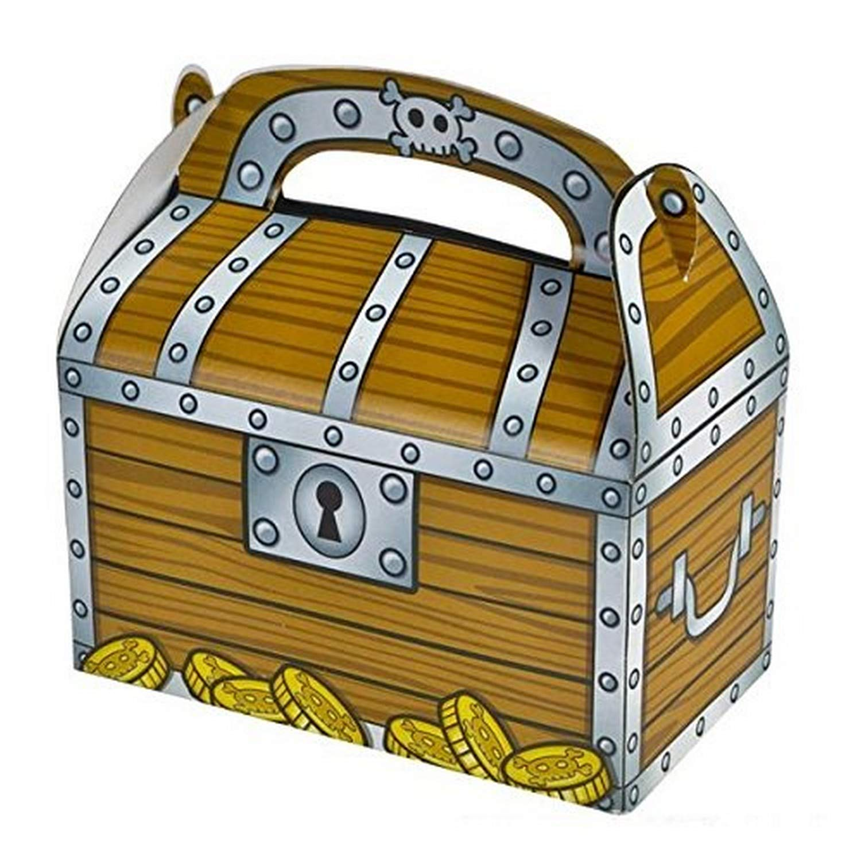 Fun Express Treasure Chest Treat Boxes, Bulk, Pack of 24