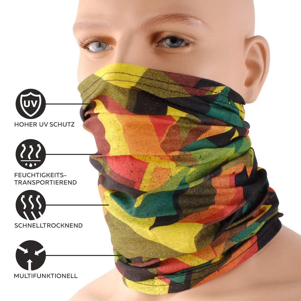 Vari Colori Hilltop Sciarpa da Uomo e Donna Foulard Sportivo Multifunzione Scaldacollo Indossabile come Cuffia