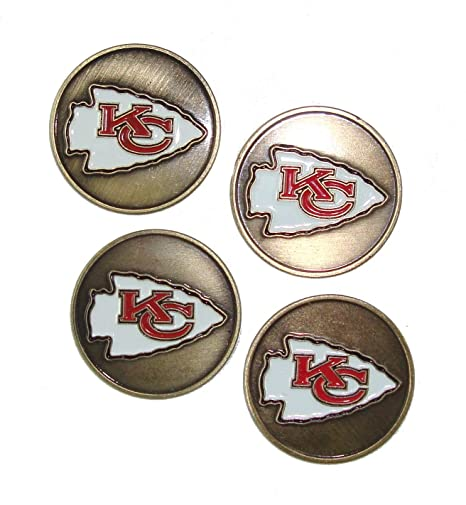 400f0ca72 Image Unavailable. Image not available for. Color  McArthur Kansas City  Chiefs NFL Golf Ball Markers ...