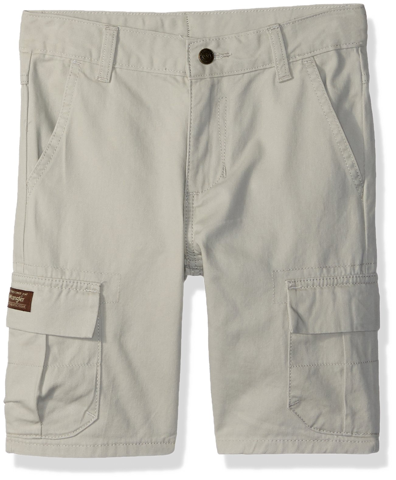 Wrangler Authentics Boys' Classic Cargo Short, Dark Putty, 10