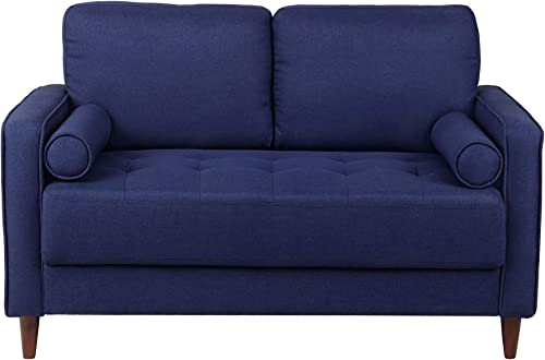 Loveseat Sofa Uphlostered Futon Couch Mid Century Loveseats Accent Love Seat