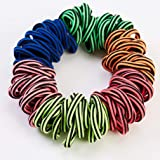 Buauty age 60 Pieces Elastic Hair Ties Hair Bands Tiny Rubber Bands Colored Girls Ponytail Holders