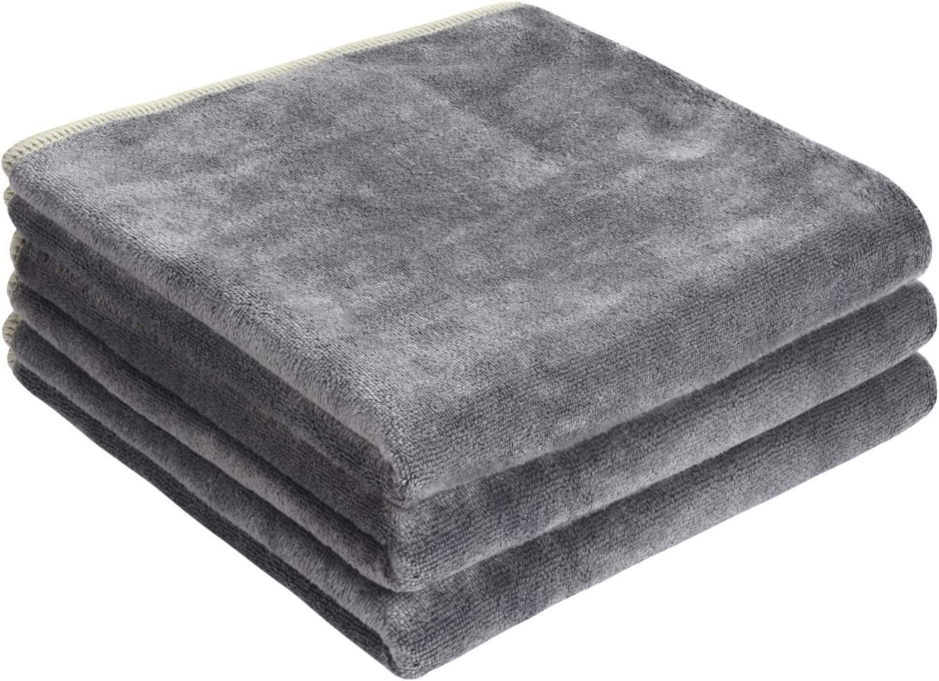 SINLAND Multi-Purpose Microfiber Fast Drying Travel Gym Towels 16Inch x 32Inch 3 Pack Grey