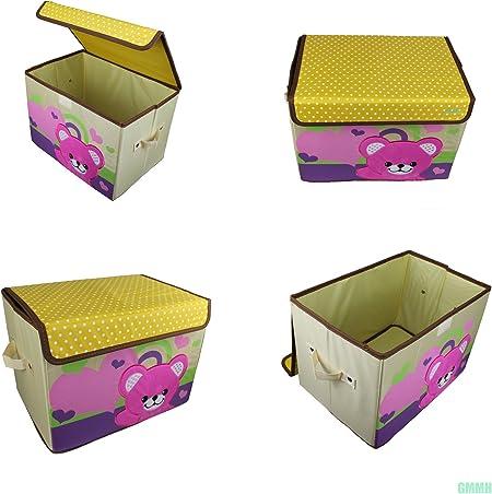Diseño Juguete Caja ciervo 38 cm x 26 cm x 27 cm caja juguete caja almacenamiento Contenedores Niños Muebles marrón: Amazon.es: Hogar