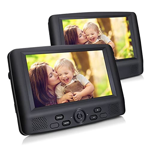 auto dvd player 2 monitore kopfst tze. Black Bedroom Furniture Sets. Home Design Ideas