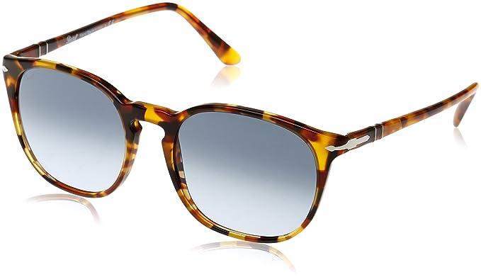 64dda1552ef5c Persol Men s PO3007S Sunglasses Madreterra Blue Polar 53mm at Amazon ...