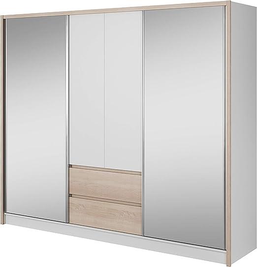 E-MEUBLES - Armario ropero con estantes, Puertas correderas ...