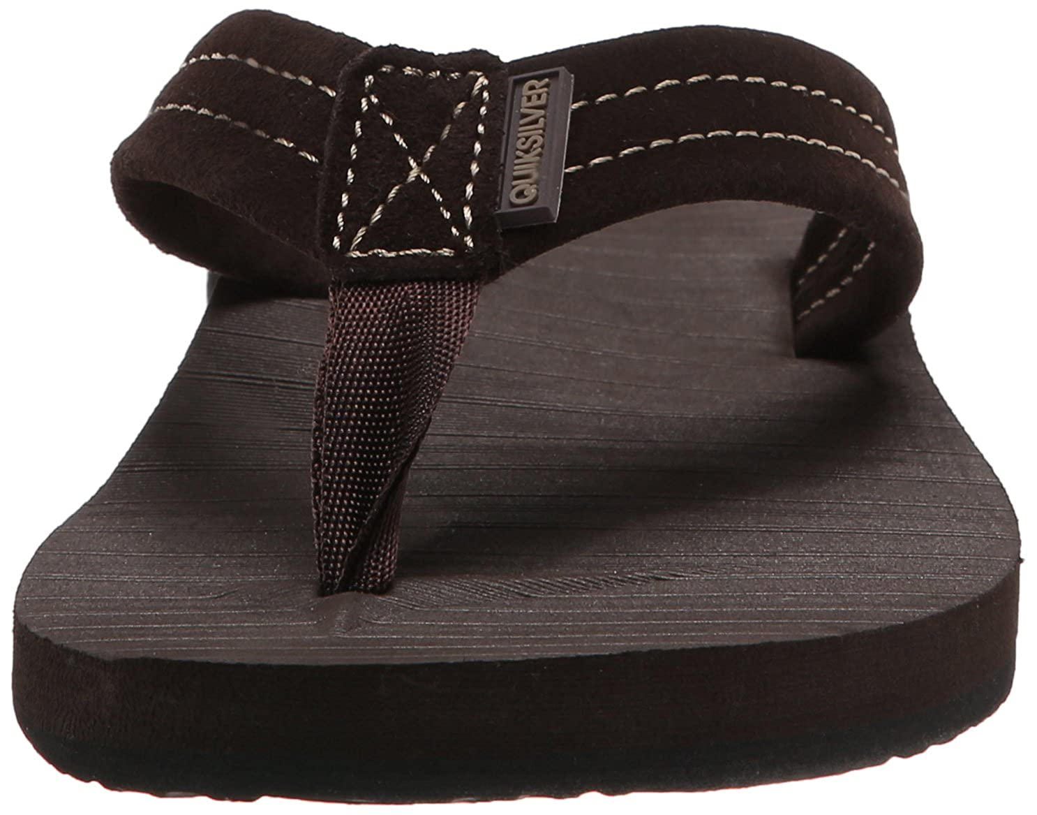 8ff7cc19ea22 Amazon.com  Quiksilver Men s Carver Suede 3-Point Flip-Flop  Shoes
