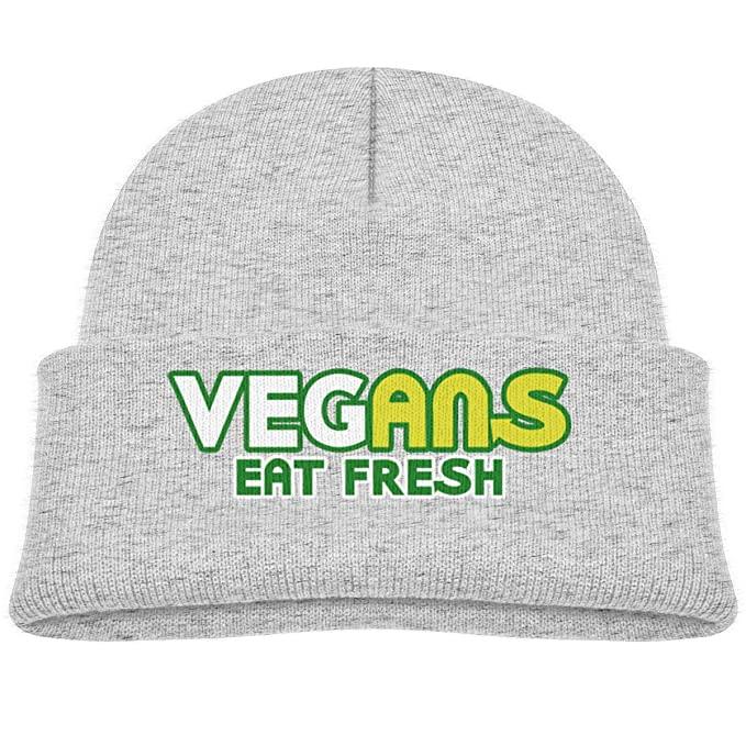 67c7352dae2 Amazon.com  Fzjy Wnx Vegans Eat Fresh Infant Beanies Caps Knit Hat ...