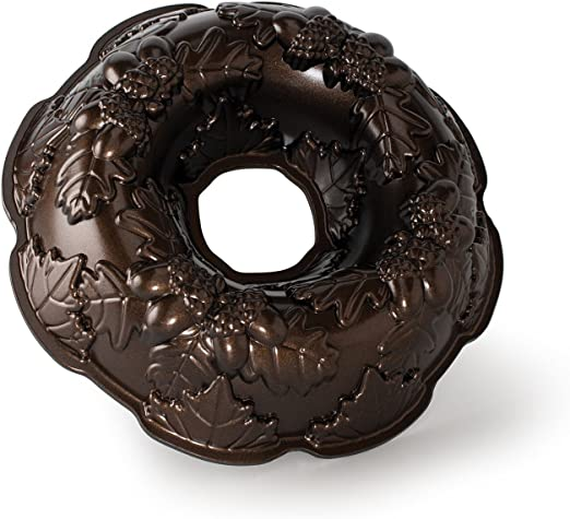 Nordic Ware Platinum Collection Autumn Wreath Bundt Pan ~ NEW /& Free US Shipping