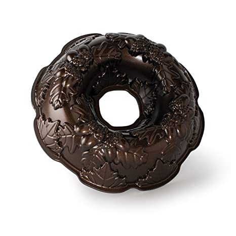 NordicWare 82348 - Molde para tarta en forma de corona de otoño