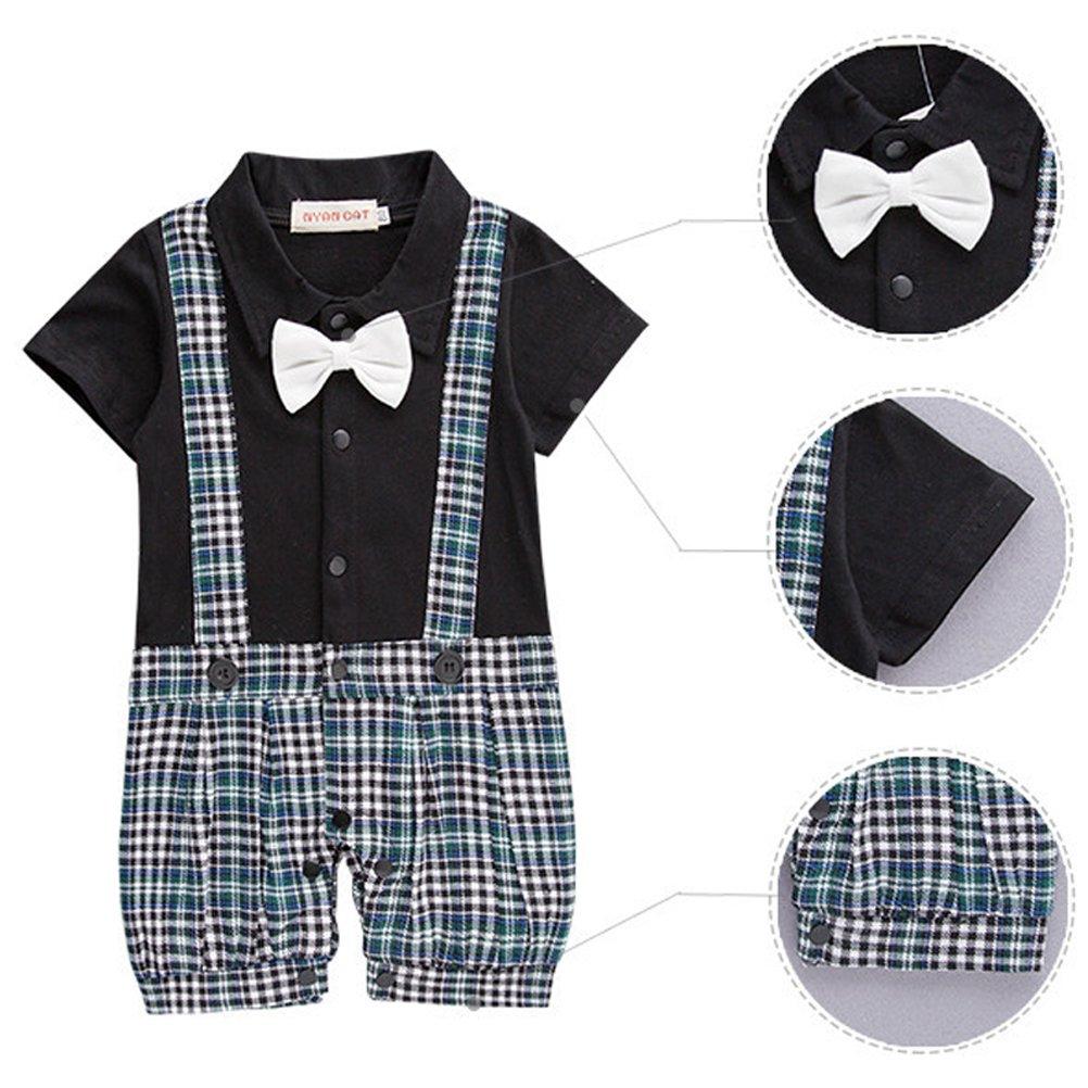 3-18 Mesi ARAUS Neonato Bambini Completini a Manica Corta Suit Formali Estiva