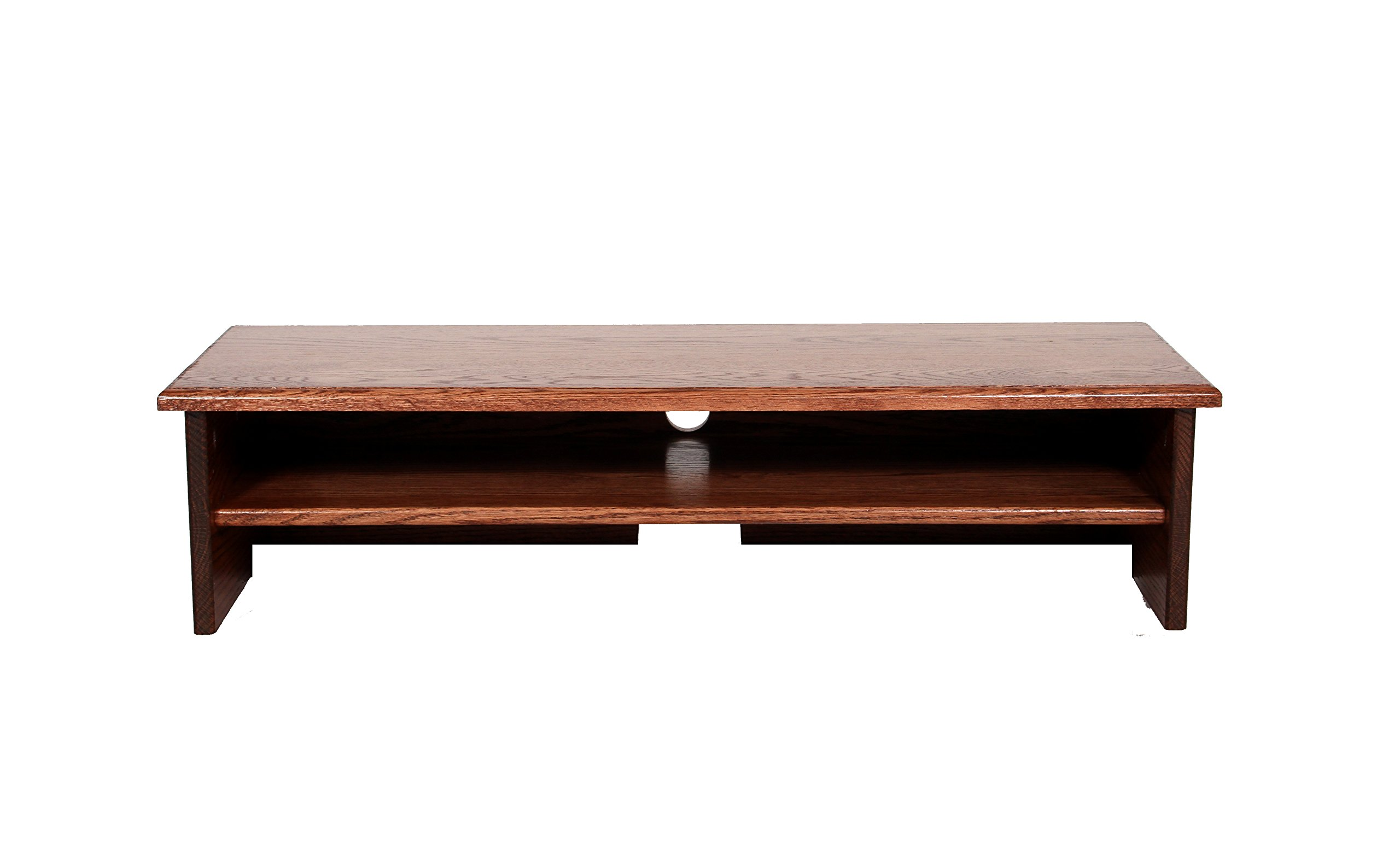 """X-Large Triple Tier TV Riser 36x14x8 3/4"""" high Red Oak Stained Solid Hardwood - solid red oak wood perfect for new flat screen TV 3 1/2"""" IN BETWEEN EACH SHELF - tv-stands, living-room-furniture, living-room - 71a3E5ufJRL -"""