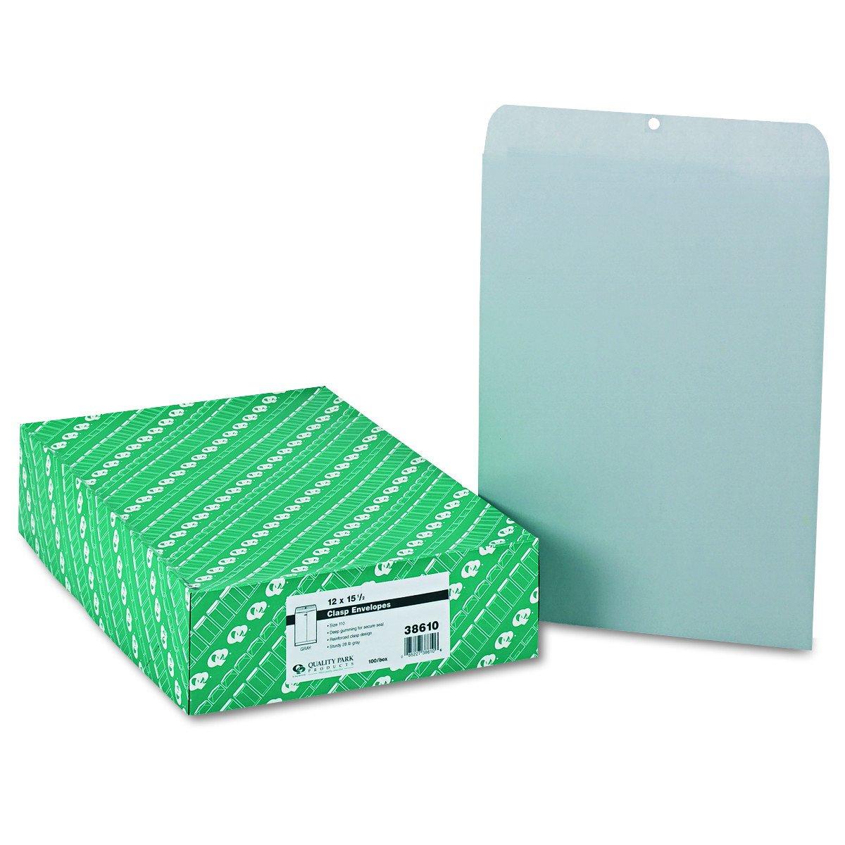 Quality Park Quality Park Executive Gray Gummed Clasp Envelopes (QUA38610) by Quality Park