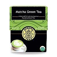 Buddha Teas Organic Matcha Green Tea | 18 Bleach-Free Tea Bags | Higher Chlorophyll...