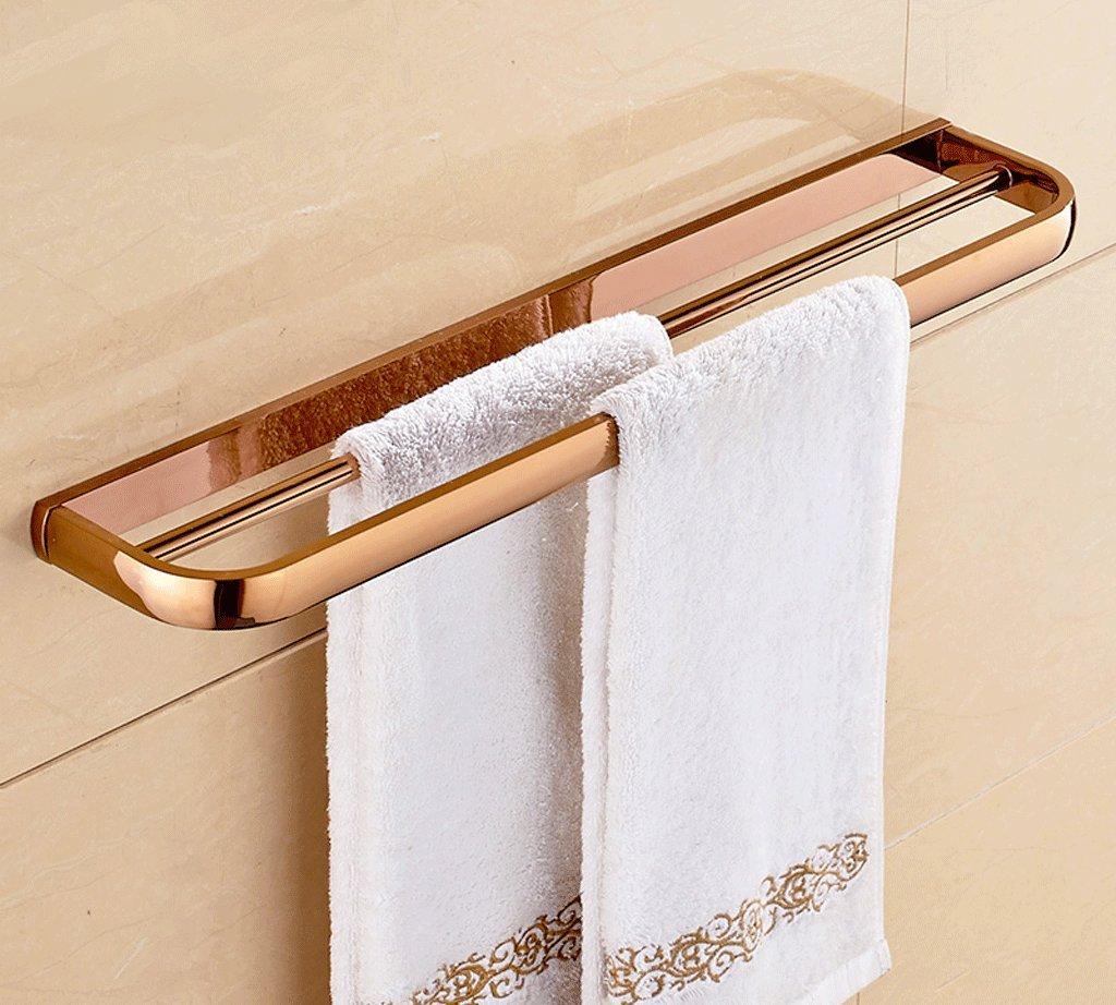 57 * 10 * 2.6センチメートル銅タオルバーヨーロッパのバスルームのバスルームのペンダントダブルタオルラック B07D1QLNS8B