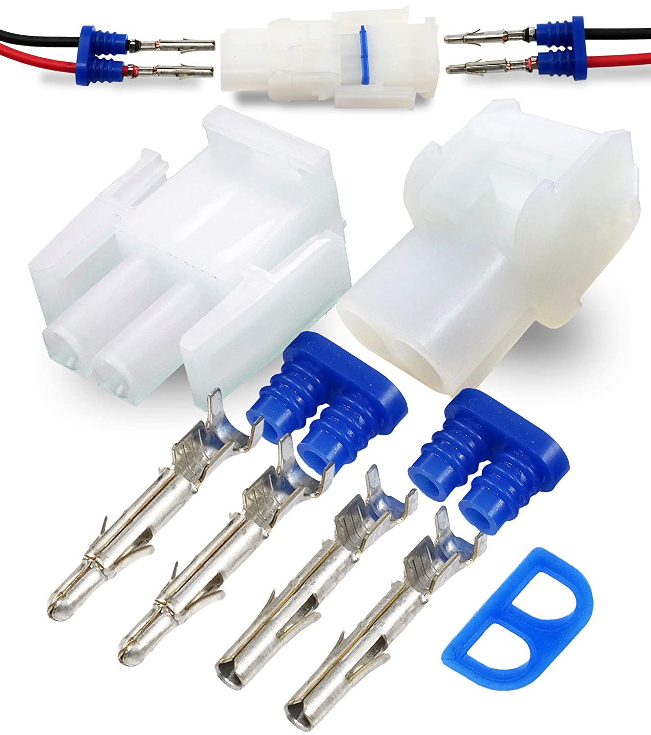 211 Piece Set Cat AMP//TYCO Mate-N-LOK White CONNECTORS Auto TERMINALS and PIC Tool with Seal Ultima