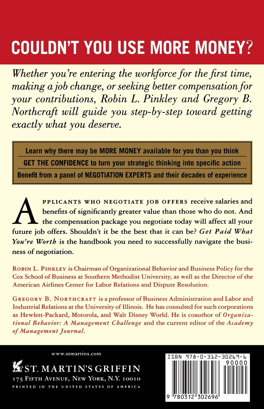 Get Paid What You're Worth: The Expert Negotiators' Guide to