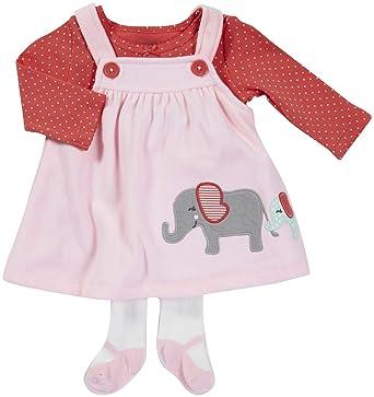 Carter\'s Carter\'s Kleid Strumpfhose Shirt rosa Elefant Hund türkis ...