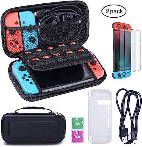 Nintendo Switch Funda y Protector de Pantalla - Hard Travel Case+ ...