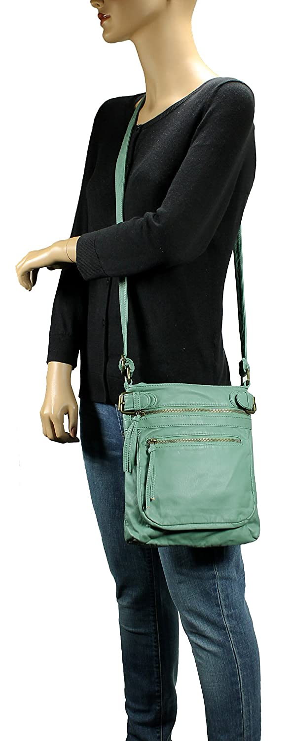 Scarleton Tri Zip Belt Accent Crossbody Bag H198453 - Mint  Handbags   Amazon.com 4e29143fea5df