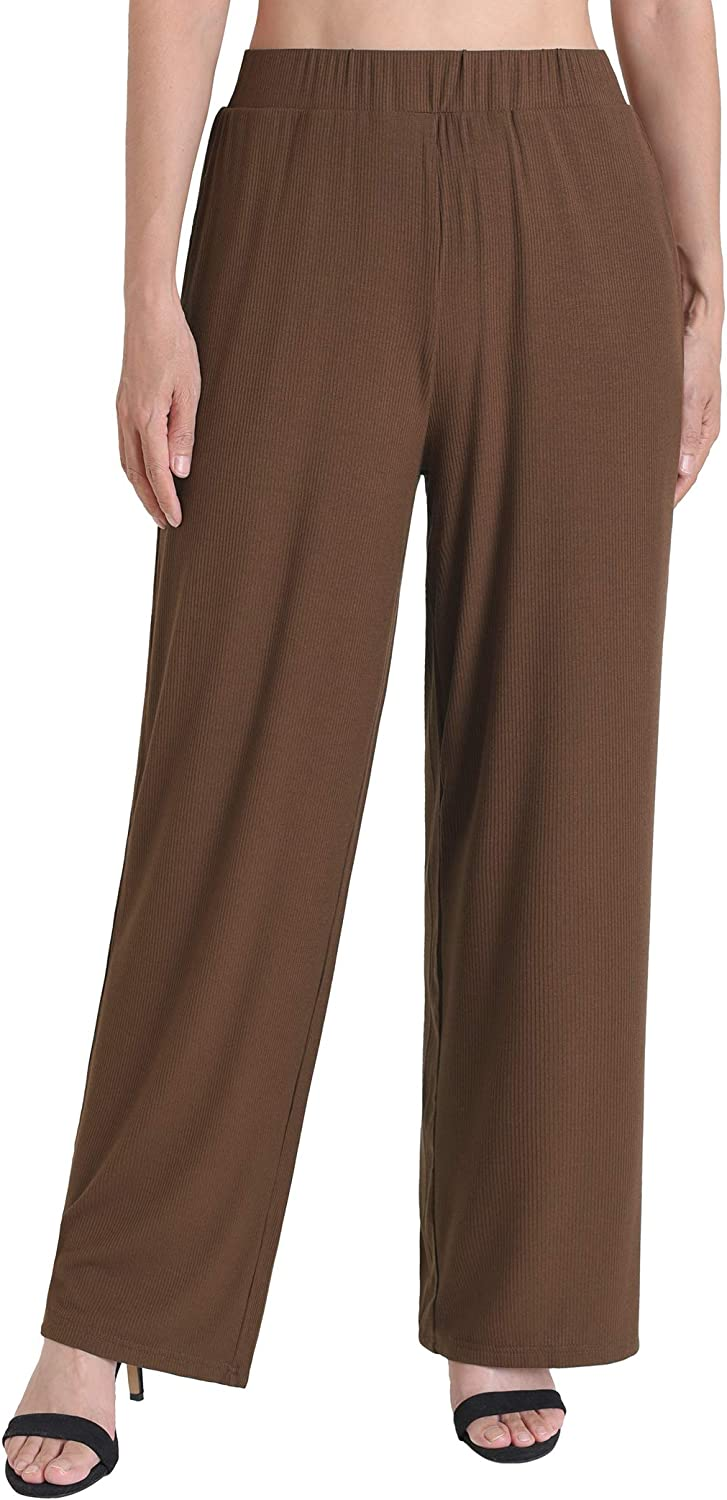 Weintee Women's Palazzo Pants Wide Leg Lounge Pants with Pockets