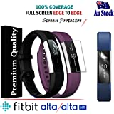 [5-Pack] Ultra Clear Edge To Edge FULL COVERAGE Screen Protector Film Guard For Fitbit Fitbit Alta / Alta HR