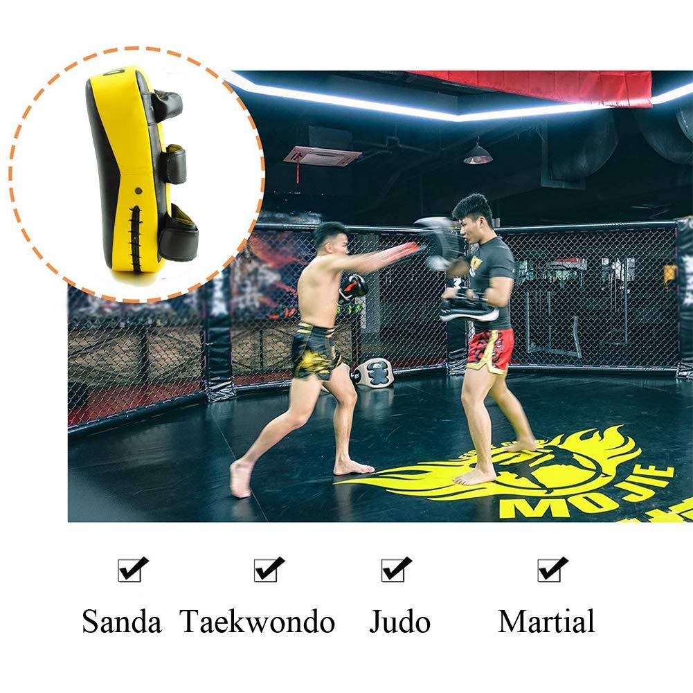 Dojo Muay Thai Kick 1 Pack Gelb Kampfsport Sparring Babyyon Taekwondo Kickpads Punch Target PU Material Sanda Fu/ß Target f/ür Karate