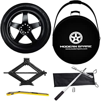 Amazon Com Complete Compact Spare Tire Kit W Carrying Case Fits 2006 2018 5th 6th Gen Bmw 3 Series Modern Spare Automotive