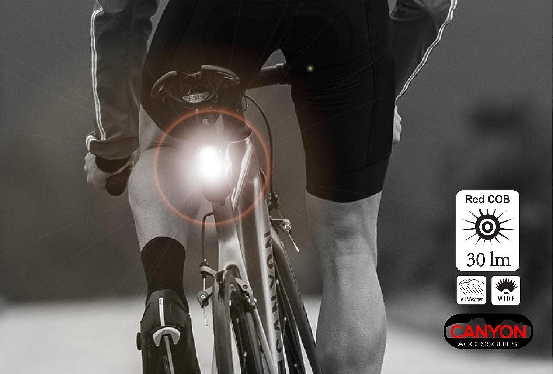 Canyon Accessories Combo Luz para bicicleta súper brillante ...