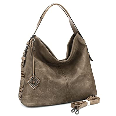 9f38df77f2 Amazon.com: Women's 2Pcs Handbags Hobo Shoulder Bags Tote PU Leather Bags  Fashion Large Capacity Bags: Shoes