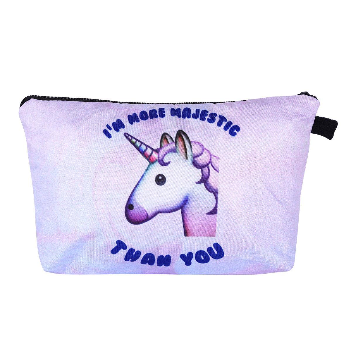 Multi-purpose Unicorn Cosmetic Makeup Pouch Travel Case Bills Changes Keys Storage Bag Kids Pencil Case