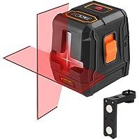 Niveau Laser Tacklife SC-L07 Avancé Croix Rouge 15m/3 mode de Laser/Horizontale et Verticale à 110°/35m avec Récepteur de Laser/Ligne Verrouillable/Support Magnétique Rectangulaire