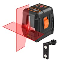 Niveau Laser Tacklife SC-L07 Avancé Croix Rouge 20m /2 Sources de Laser /Ligne Horizontale et Verticale Plus Stable /Grand Angle de 110°/Verrouillable /35m avec Récepteur de Laser /Support Magnétique Rectangulaire