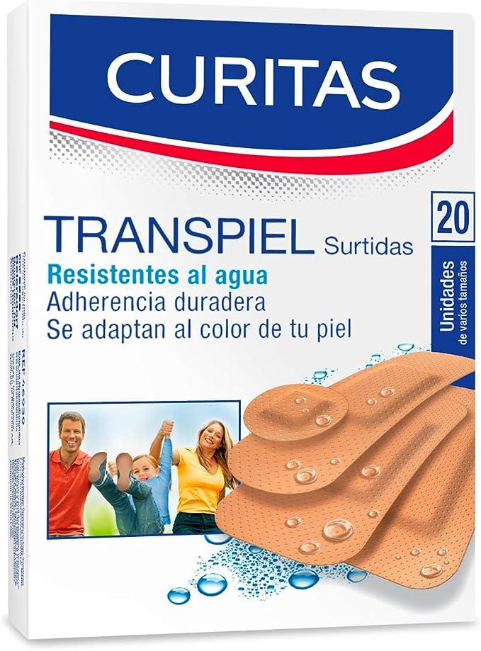Curitas Transpiel Surtidas Varios Tamaños, 20 Piezas, Pack of 1, 1 count: Amazon.com.mx