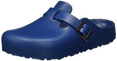 k2ZugHfe2J Classic Boston Leder, Unisex-Erwachsene Clogs, Blau (Blau), 37 EU