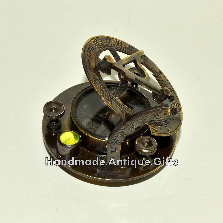 """真鍮製日時計コンパス、スピリットレベル3 """" @アンティークMaritime Nautical Compass B0749JLRPV"""
