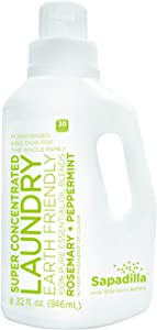 Sapadilla Rosemary + Peppermint High Efficiency (he) Biodegradeable Laundry Detergent Liquid , 32 Ounce