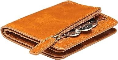 Amazon.com: Itslife billetera pequeña de cuero con ...