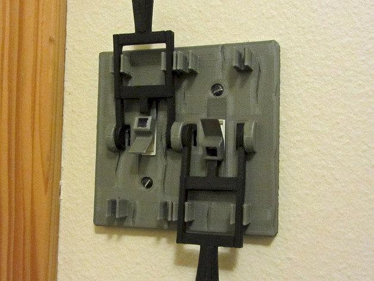 Frankenstein style dual light switch plate! Mad scientist lab! Horror Decor