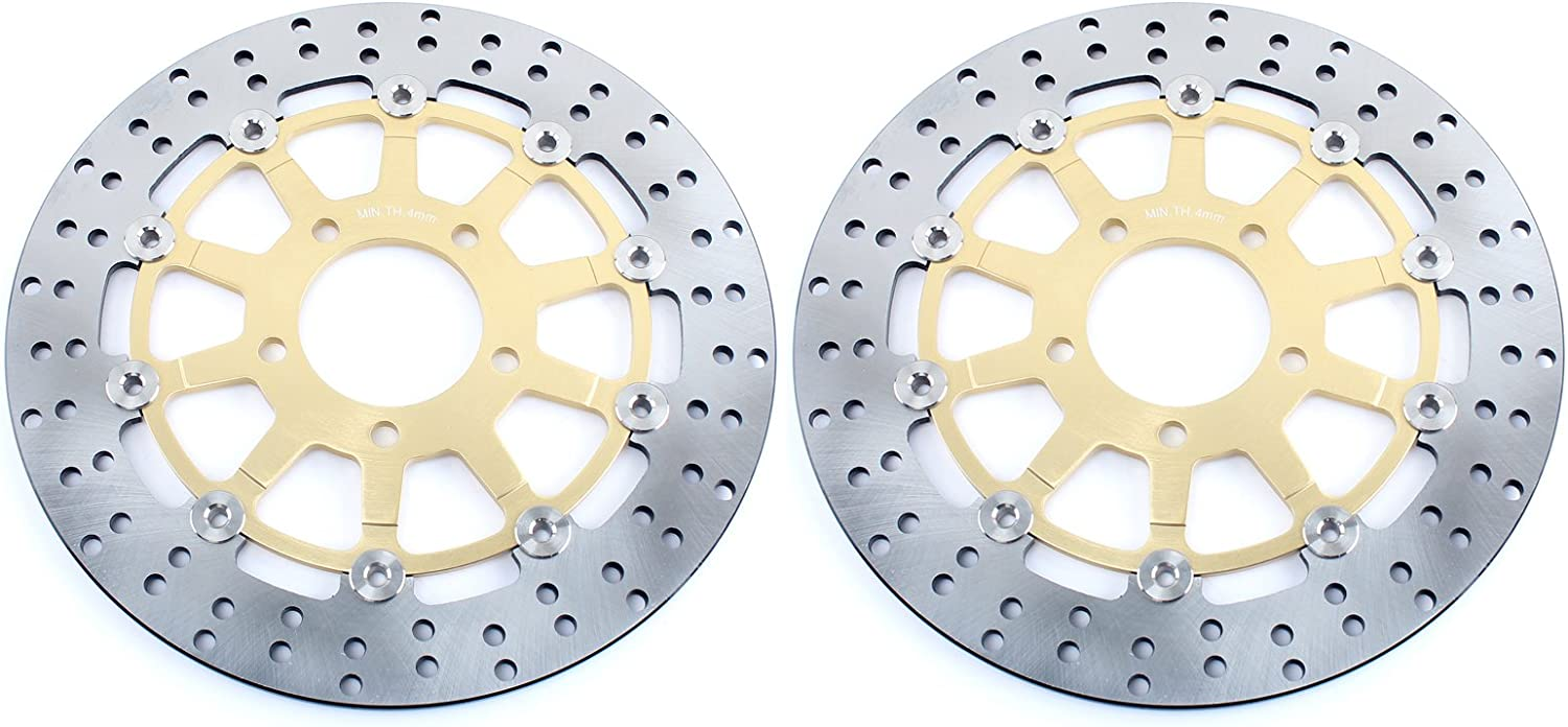 S 650 2003-2009 TARAZON 1 Pair Front Brake Discs Disks for GSX 600 750 F 2004-2006// GSF 650 Bandit ABS S K5 K6// SV