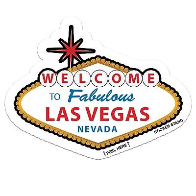 "Las Vegas Nevada car bumper sticker decal 5"" x 3"": Automotive"