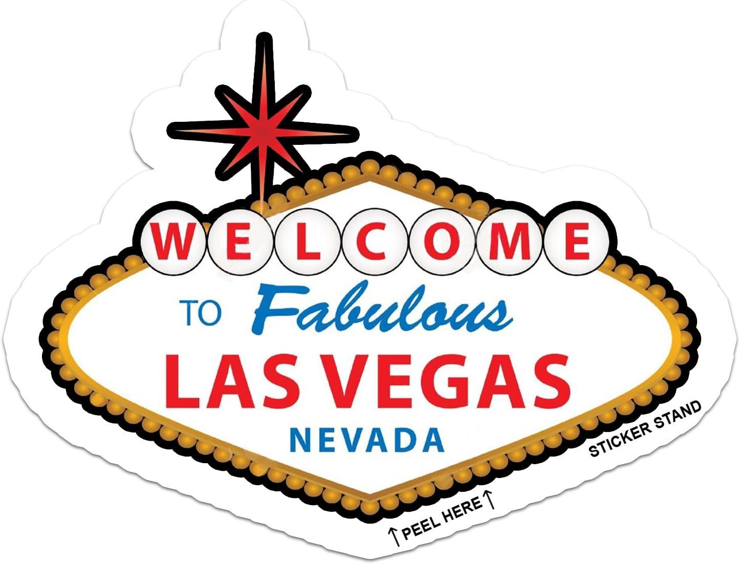 Las Vegas Nevada car bumper sticker decal 5