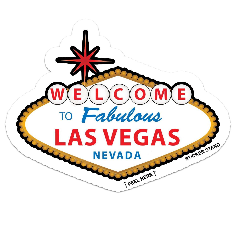 Las Vegas Nevada car bumper sticker decal 5 x 3 Sticker Stand