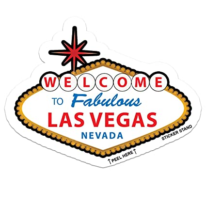 Las vegas nevada car bumper sticker decal 5