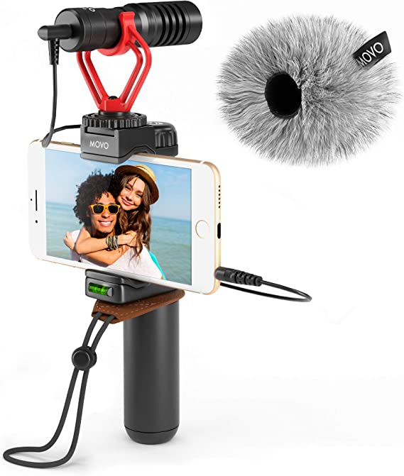 Movo Smartphone Video Rig with Shotgun Microphone