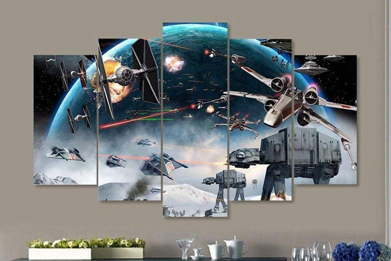 5 Panel Star Wars Wall Art